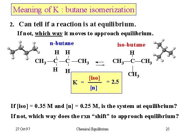 Meaning of K : butane isomerization